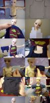 Sewing for BJDs: T-Shirt by super-spazz-muffin