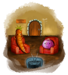 PEC and Olive the Onion by Maheen-S