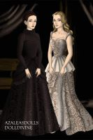 Mme.Giry and Meg Giry by EriksAngelOfMusic22