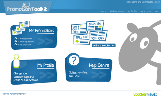 Promotions toolkit homepage by jimworm