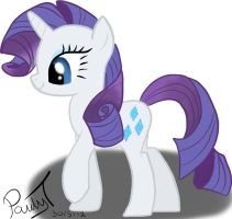 rarity (first pony pic) by paulyt7