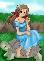 APH - With my turtle by EsuNeh