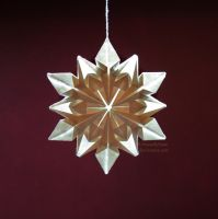 Origami snowflake (lined paper) by UniquelySane