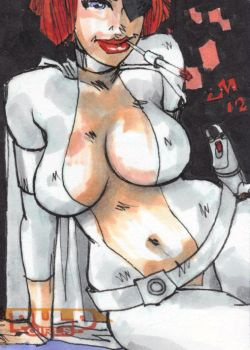 SKETCH CARD Pulp Girl? 2 by jasinmartin