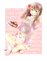 Eat cake with me please by Milchiah