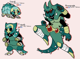 Waterbear Fakemon by Icarusis