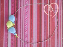 Pinkie Pie Necklace by ilikeshiniesfakery