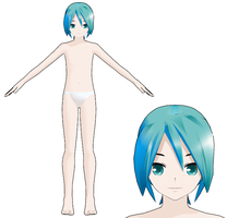 MMD - Lat male base by SuminoChan