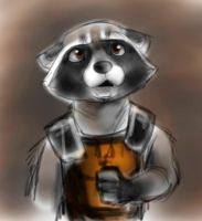Rocket Raccoon by The30thOfFebruary