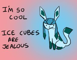 Glaceon- I'm so cool by MasterOfGeckos