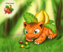 PokeFusion: Charysaur by Flameydragwasp