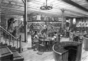 Old Western Bar by BLMcKinney