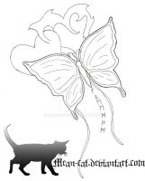 Butterfly freedom tattoo by Mean-cat