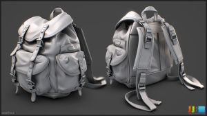 Kakadu Backpack - Highpoly Sheet 01 by JeremiahBigley