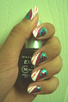 Dotted Flower Nails by Taikutsukid