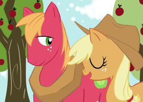 Big Mac and AppleJack by cassie-chan55