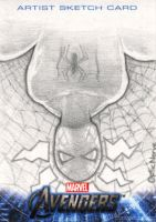 Avengers Assemble Sketchcard - Spider-Man by theopticnerve