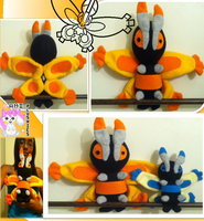 Mothim Plushie :Sold: by Ami-Plushies