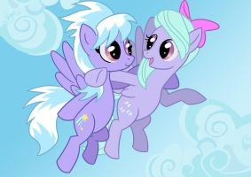 Flitter and Cloudchaser by VegaNya
