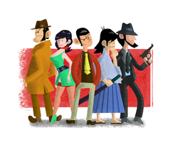 Lupin the III cast by Alandy