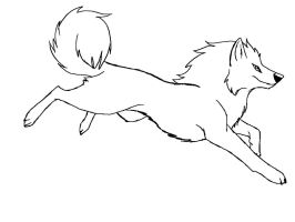 Free Wolf Lineart by Morgan-Michele