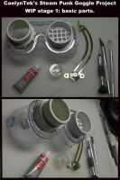 Steam Punk Goggles WIP 01 by CaelynTek