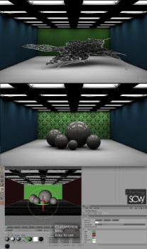 Office Room for C4D by salsr