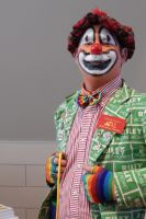 Clown Dressed in Clashing Colors by Artlune