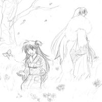 Inuyasha-Sesshomaru and Rin by majochan