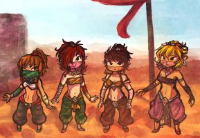 Gerudo Babes by Linkerbell
