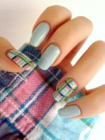 Plaid nails by DancingGinger