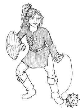 I can draw that: Girl learns to Fight by EverymanGirl