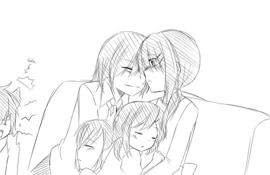Happy Family sketch by mikanxsakura
