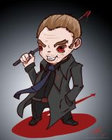 supernatural mr crowley fan art - commission by mrcatTEARS