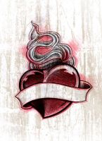 Tattoo flash: Heart by jerrrroen