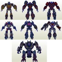 TF Cybertron Adventures Wii Skins by PapercraftKing