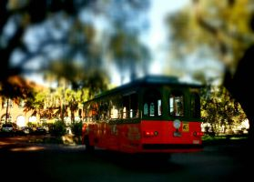 Tilt shift bus line by CatawampusMind