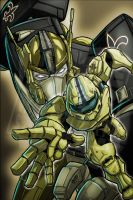 Master Chief and Optimus Prime by stikkmann