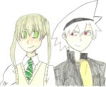 Art Trade: Maka and Soul by QueenLioness7