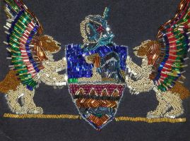 Nan's Beaded Crest by badgersoph