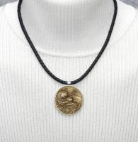 Famous Sea Otter Coin on Nappa Leather Necklace by dlstancel