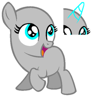 *Squee!*- Filly Earth Pony Base by RiakaPepsiPony
