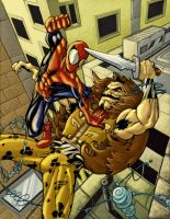 Spiderman and Kraven by KaRzA-76