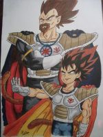 kang and prince vegeta by syc0ticsART