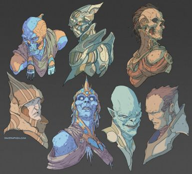 Head Concepts by DaveRapoza
