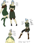 GW2: Cedra Outfits by Blue-and-Dog