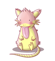 Pokemon Fusion - Lickicate by ice-cream-skies