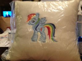 Rainbow Dash pillow by SweetwaterPony