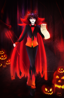 Drawlloween 2015: Devil by LibeRitee