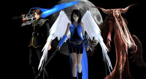 Squall, Rinoa and Ultimecia by MR-ENERGYZONA